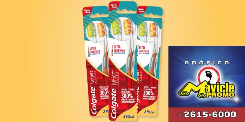 Colgate conta com a linha SlimSoft Advanced   Guia da Farmácia   Imã de geladeira e Gráfica Mavicle Promo