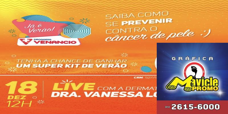 Farmácia Venâncio dá dicas de prevenção de câncer de pele em Dezembro Laranja e distribui presentes nas lojas e no site