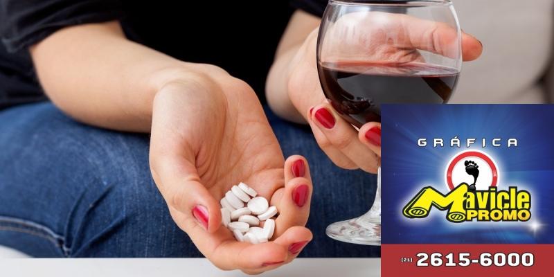 10 razões para não misturar bebidas alcoólicas com medicamentos   Imã de geladeira e Gráfica Mavicle Promo