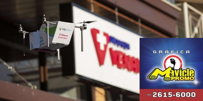 Farmácia Venâncio faz a primeira entrega comercial com aviões não tripulados